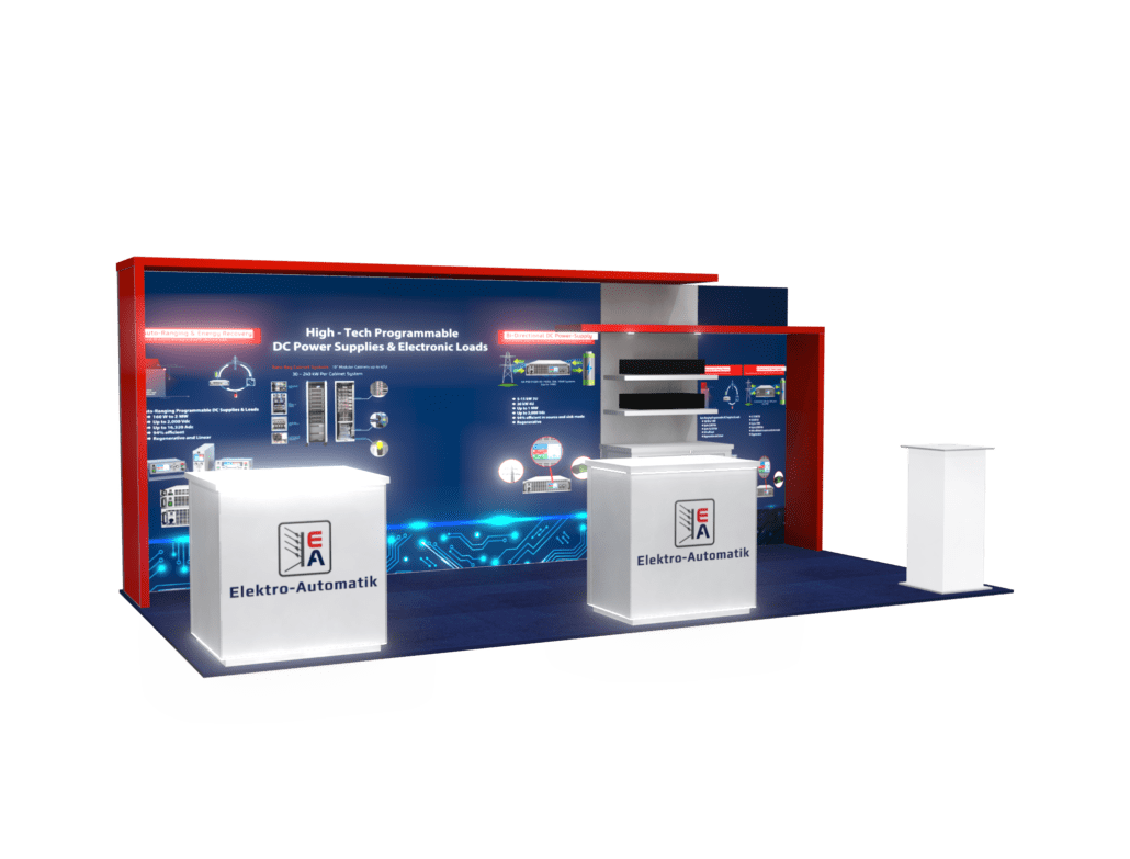 10x20 Inline Exhibits - Designs with Integrated Light boxes