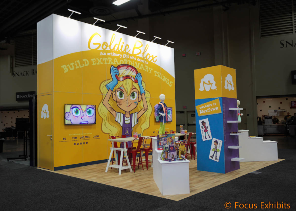 Island Exhibit for Goldie Blox